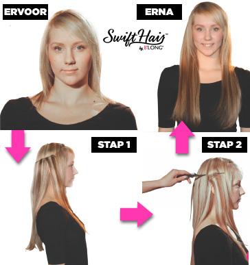 van lang naar kort haar