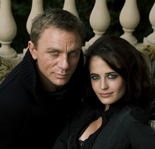 Met Daniel Craig in Casino Royale