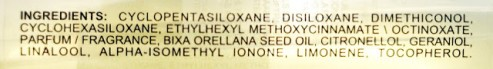 Davines Oi Oil Ingredients