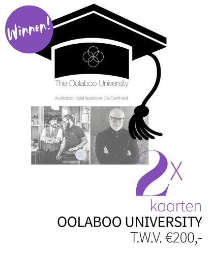 WINNEN: 2 x entree Oolaboo University