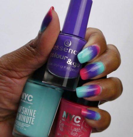 Ombre nails met Gel Polish