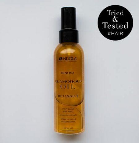 Shimmer met een herfstgeur voor glanzend haar - Indola Glamorous Detangler