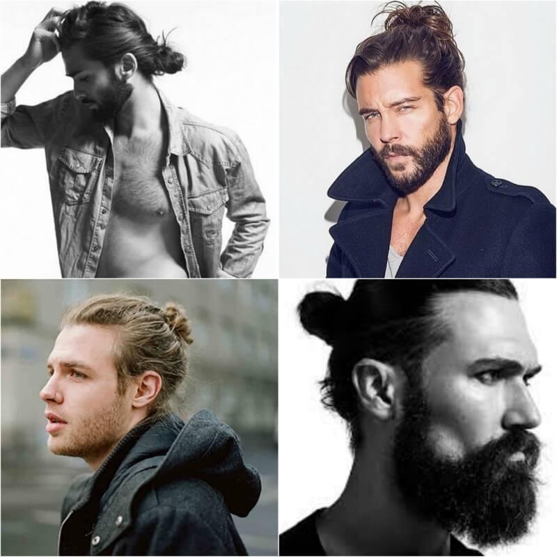mannen met knotje