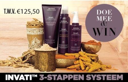 Maak kans op 1 van 3 AVEDA Invati haarpakketten!