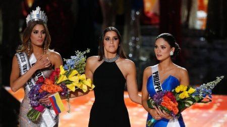 Miss Universe 2015 voor 2 minuten...