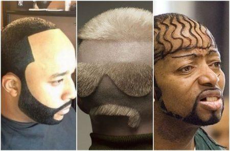 Bizarre mannenkapsels: wat zouden zij hun kapper hebben gevraagd?