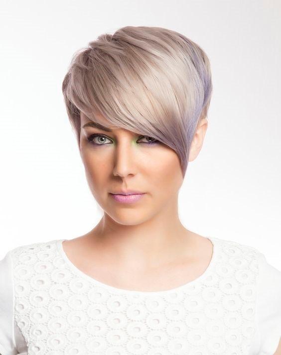 blondkort met paars