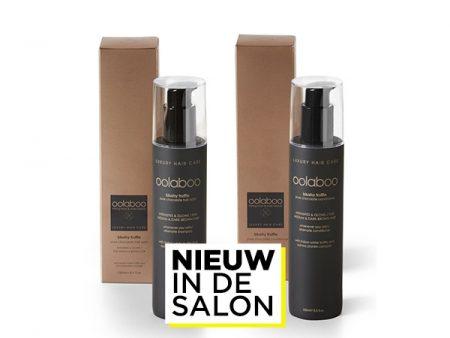 Nieuw in de salon: Oolaboo Blushy Truffle Pure Chocolate Shampoo & Conditioner