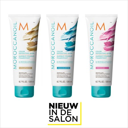 Nieuw in de salon: Moroccanoil Color Depositing Mask