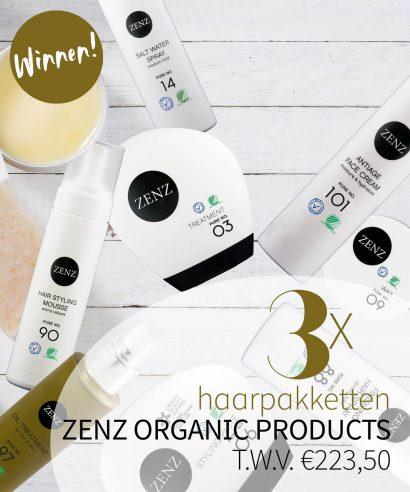 WINNEN: 3 haarpakketten ZENZ Organic Products