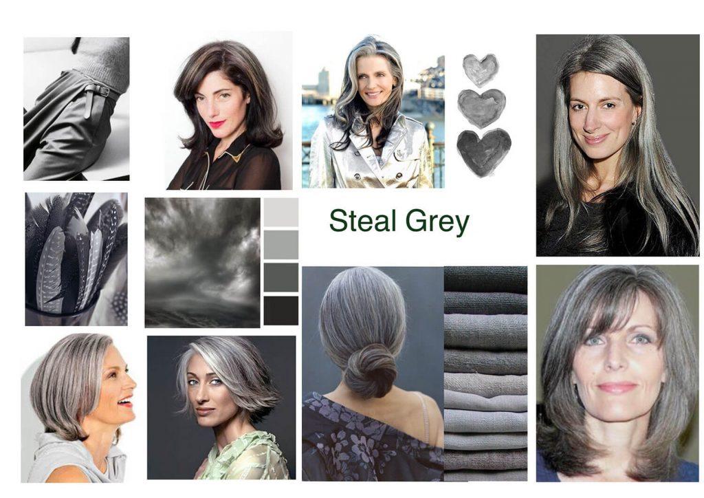 grijs haar staalgrijs