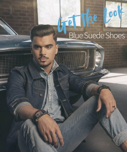Get the Look: Blue Suede Shoes
