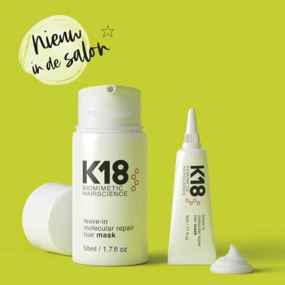 Nieuw in de salon: K18 Leave-in Moleculair Haarmasker