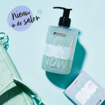 Nieuw in de salon: Indola ACT NOW! Purify & Solid Shampoo