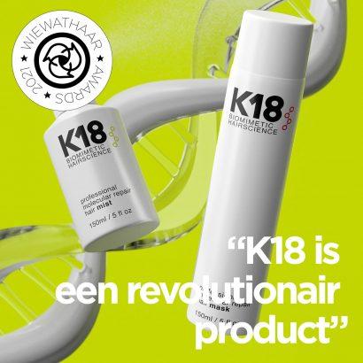 WieWatHaar Awards 2021 | K18 - Leave-in Molecular Repair Hair Mask